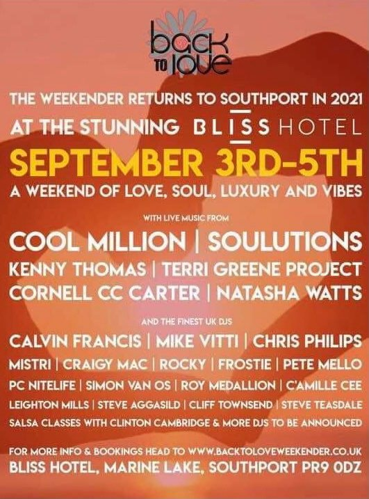 Back to Love Weekender in Southport looks Bliss